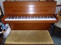 Modern upright piano ,double piano stool