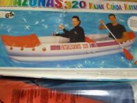 kajak canoe thick plastic no oars just boat new in box