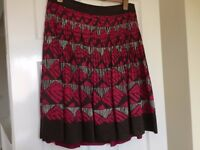 Coast skirt, size 18, excellent condition, pink and brown