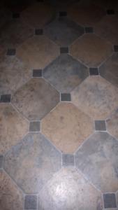 Deluxe cushion step vinyl flooring