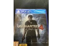 Uncharted 4 for PS4 brand new sealed
