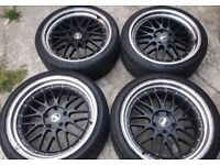 BBS 19″ LM's Staggered Alloys With Tyres For Sale **** £420 O.N.O****