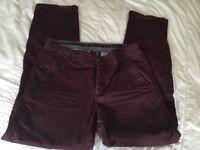 """CREW clothing Men's burgundy chino type trousers 34"""" regular VGC"""