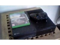 Xbox 1 with ghost recon and controller
