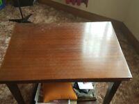 Card Table - solid walnut