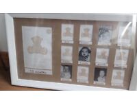 Baby 12 month photo frame