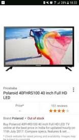 "NEW 40"" LATEST HD TV"