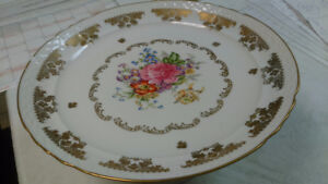 Porcelain de France - Footed Bowl - Hand Painted