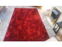 Deep pile large rug