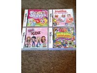 4 Nintendo DS games bundle - Bratz kids/Moshi Monsters/Imagine my Restaurant/Squinkies