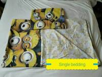 Single bedding with one pillow