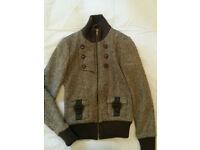 Original Penguin Women's Tweed Bomber Jacket (UK Size 8)