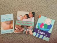 Selection of baby books baby sign language,the rough guide to babies,the no cry nap solution