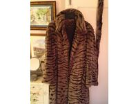 Fake Fur very warm fully lined coat