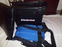 ANGLER's deluxe comfortable multi-usage seat, storage box, made in ENGLAND QUALITY.