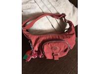 Kipling Diane Clutch Shoulder Bag with Front Pocket in Brick Red