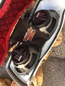 Hertz HCX690 speakers and Harley Davidson side bags with lids