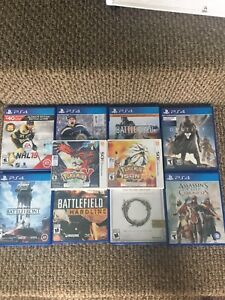 Playstation 4 and nintendo 3DS games