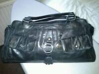 Debenhams. J Taylor, Black Leather Handbag for sale  West Yorkshire