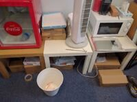 LACK TABLES SMALL SQUARE £3 EACH WHITE X 2, sofa, cabinet, office chair