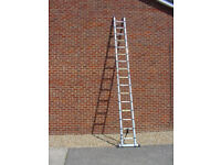 5 Metre Multi purpose Aluminium FoldableTelescopic Extending Ladder
