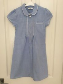 3 school summer dresses blue gingham from next