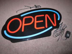 Open Sign by Royal Sovereign - LED, Acrylic ,like new, out of b