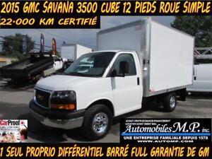2015 GMC Savana 3500 22.000 KM CUBE 12 PIEDS ROUE SIMPLE