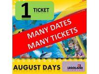 1 X LEGOLAND Windsor Tickets SUNDAY 20th AUGUST 17 - MANY TICKETS ! MANY DATES !