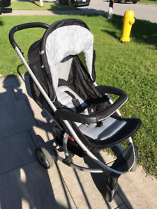 Hauck Malibu 3-in-1 Stroller with bassinet and car seat adapter