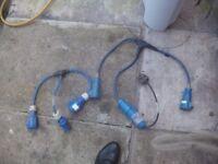 electric caravan hok up cables