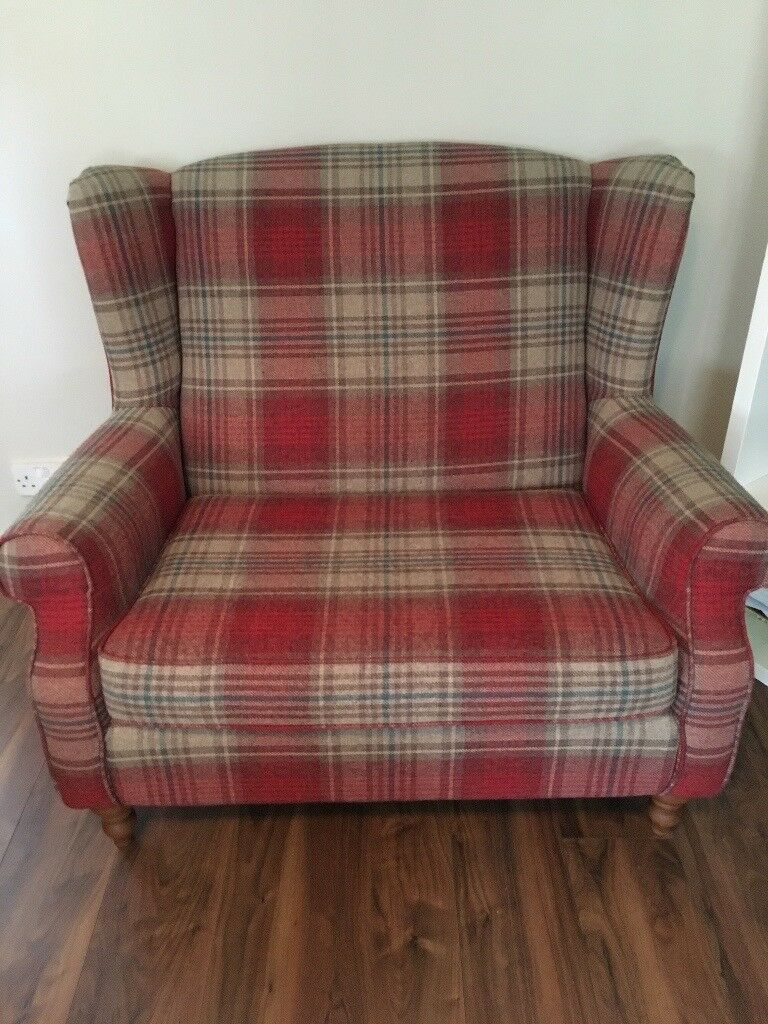 Next Snuggle Chair In Sherlock Check Fabric In Ashton On