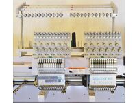 2 HEAD INDUSTRIAL EMBROIDERY MACHINE, PERFECT CONDITION rrp £13000 inc VAT