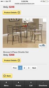 Brand new 5 piece dinette