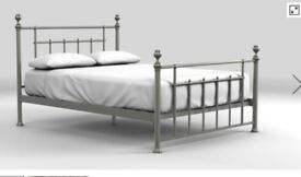 A beautiful leamington metal double bed frame from next in very good condition