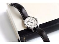 Meistersinger Perigraph AM1003 Wrist Watch Cream ivory Boxed 43mm £799