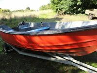 14ft Wyth Fibreglass Fishing Boat and Trailer