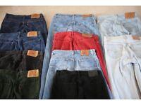 Levi 501 Jeans 34W 32L (9 pairs) & 1 Calvin Klein Jeans 34W 32L (1 pair) - will split