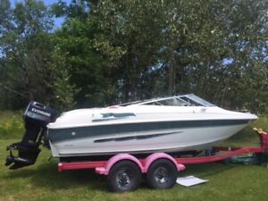 '98 19' larson with 90 hp evinrude motor