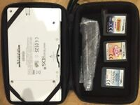 White Nintendo DSi , case, charger & 3 games