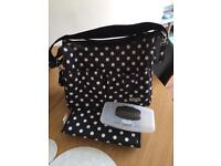 Polka Dot Nappy Bag