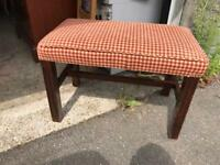 Large dressing table stool or piano stool
