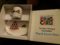 The very hungry caterpillar mug and snack plate set