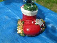 Festive christmas tree holder