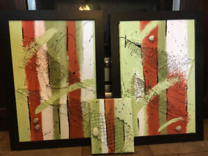 3 pieces of this nice art painting