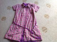 NAme It checked girls shirt dress Age 9-10 years