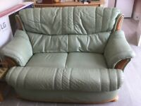 2 Seater Leather Settee and Armchair