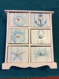 Little Seaside Storage Box - six drawer compartments