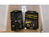 Challenge xtreme 18v drill with 246 bit piece set