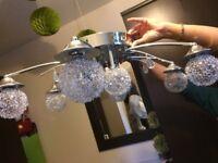 luxury Italian chandelier bubble &chrome neon & white